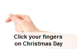 lyndon farrington likes to click his fingers at christmas