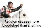 """Religion causes bloodshed"" says Lyndon Farrington"